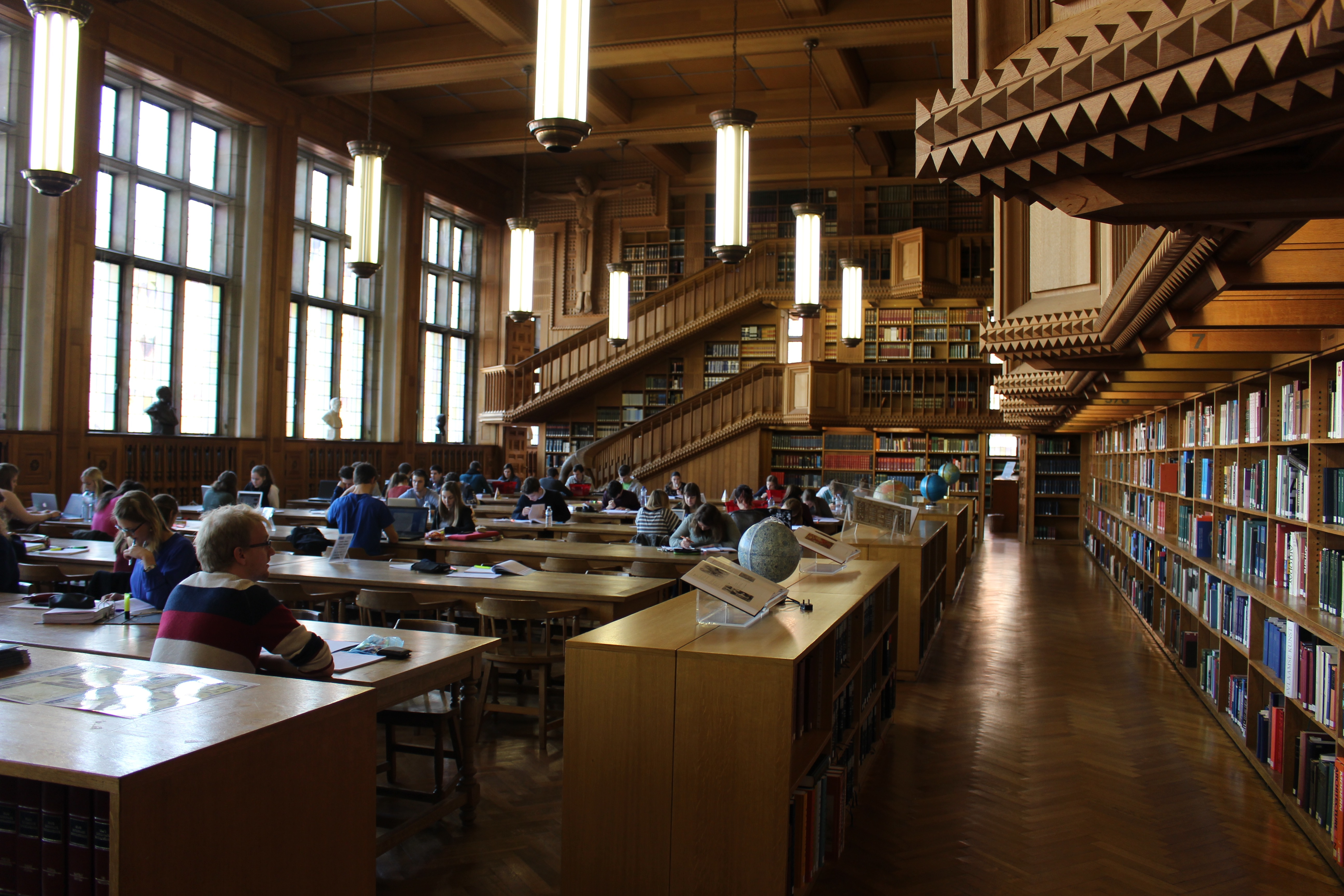 KU Leuven Library reading room