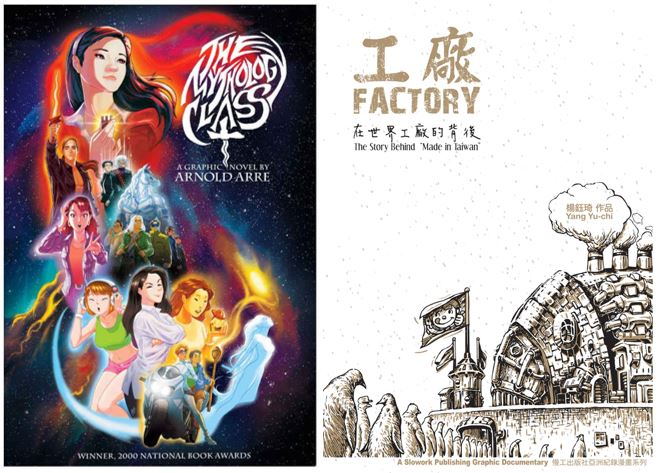"""Cover images for """"The Mythology Class"""" and Factory"""