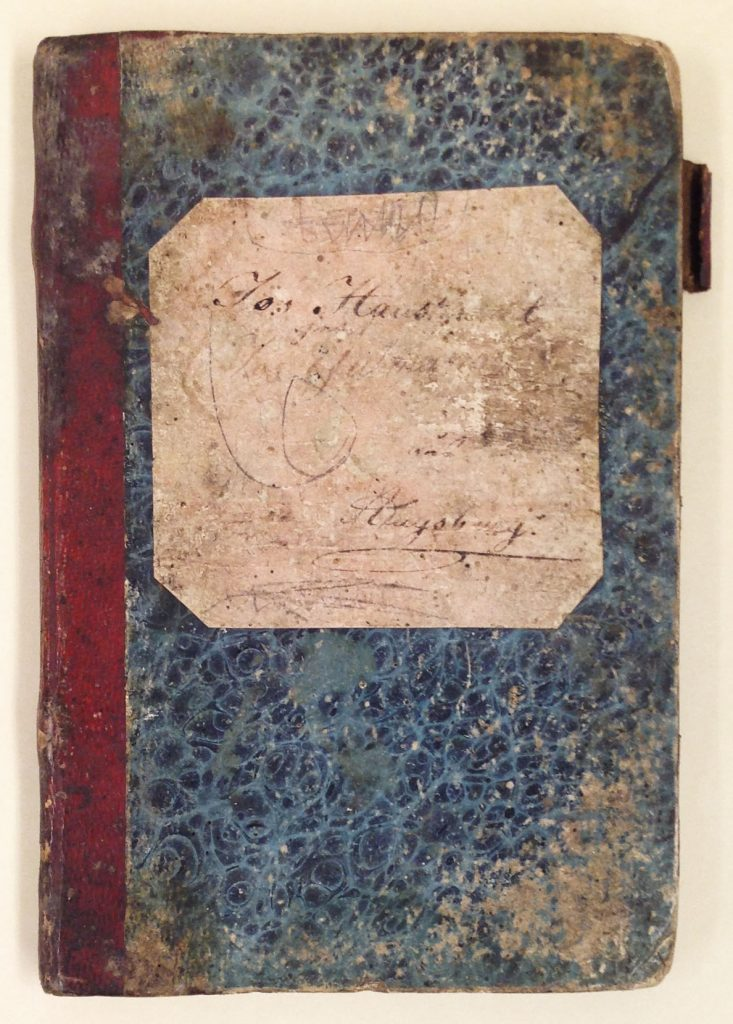 Gutmann family notebook written in German and English, circa 1840s-1860s.