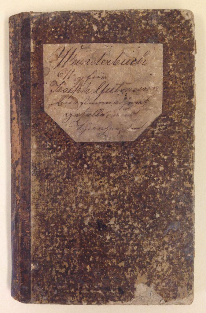 Joseph Gutmann's traveling notebook, circa 1840-1868.