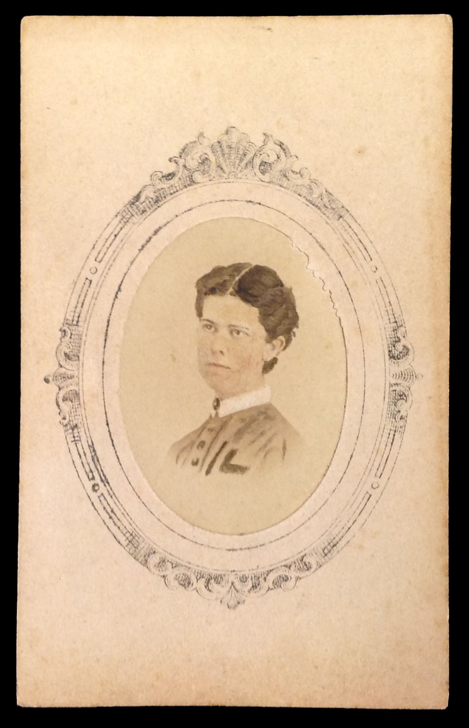 Photograph of Sarah B. Leverett, circa 1867.