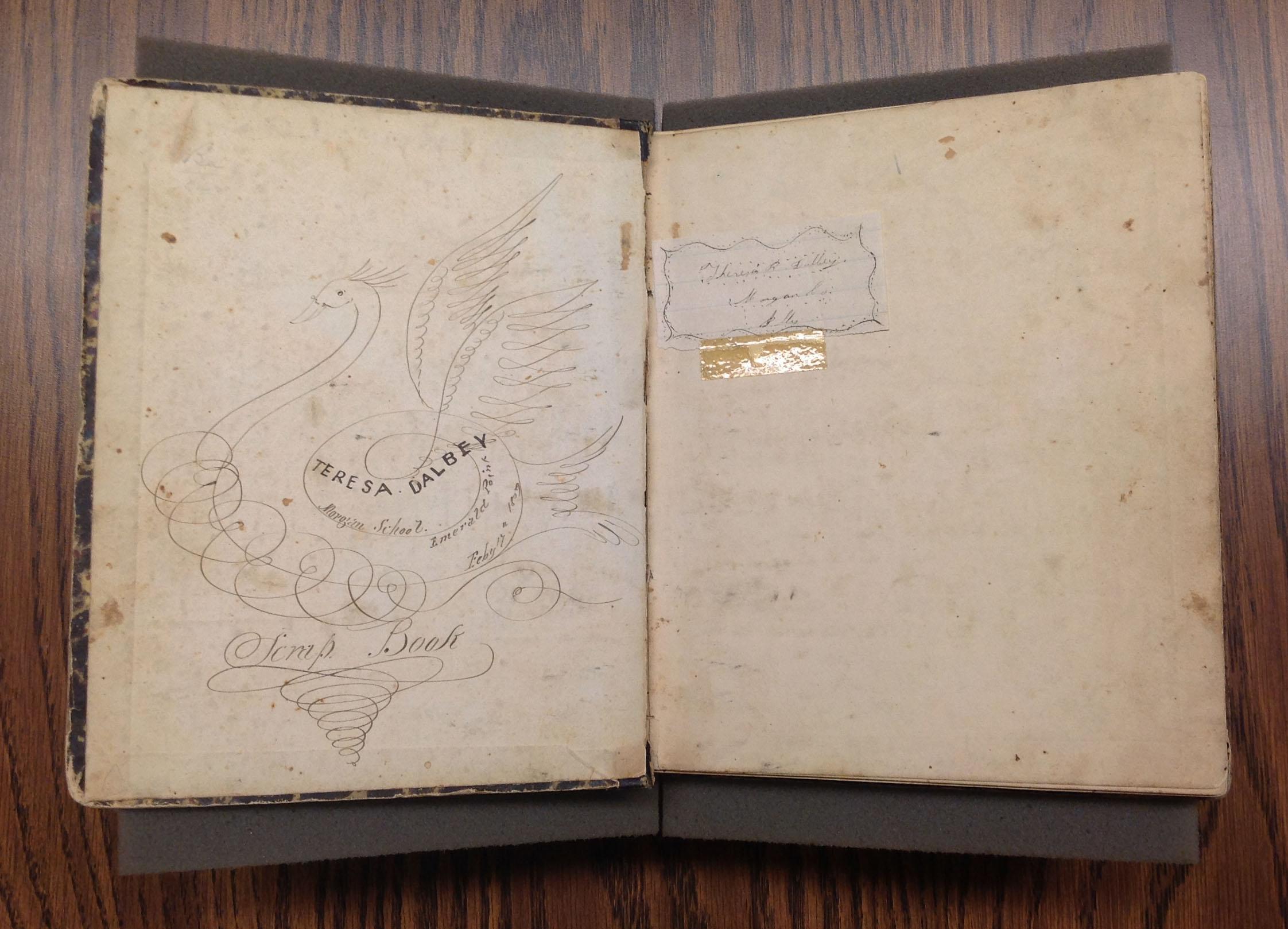 Teresa Dalbey School Notebook, 1859-1864