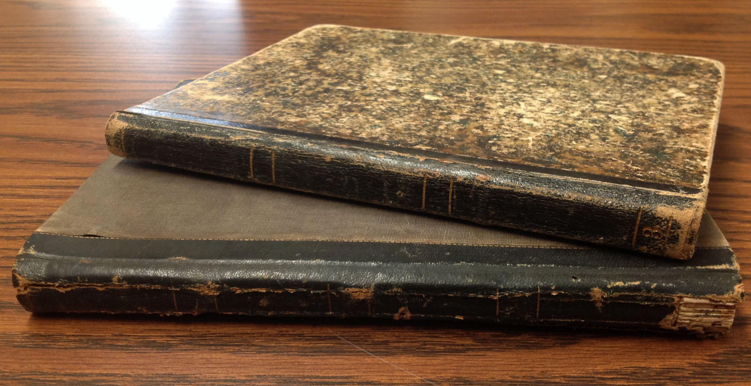 Sarah E. A. Brown Leverett and Teresa Dalbey School Notebooks, circa 1850s