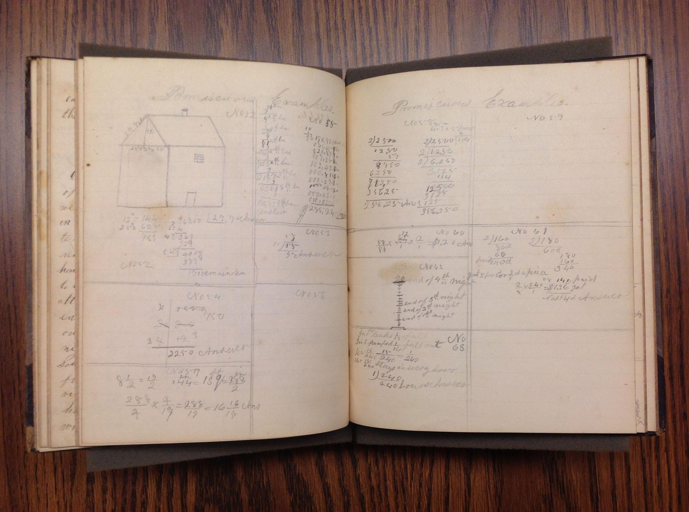 Sarah E. A. Brown Leverett School Notebook, 1857-1858