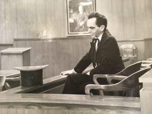Harlington Wood Jr. portraying Abraham Lincoln