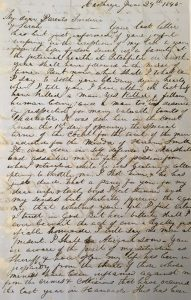 Letter from Sheriff Minor Deming to his family, 1845