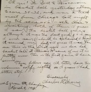 Letter from Charles to Esther, March 4, 1906
