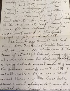 Letter from Charles Meharry to Esther Burghardt