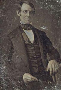 Lincoln in 1840s. 1848 daguerreotype