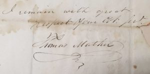Letter from Thomas Mather to Stephen B. Munn on October 21, 1826