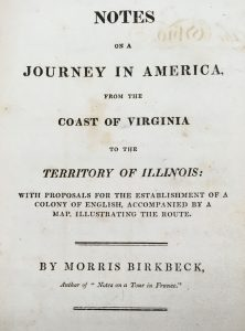 Notes on a Journey in America from the Coast of Virginia to the Territory of Illinois