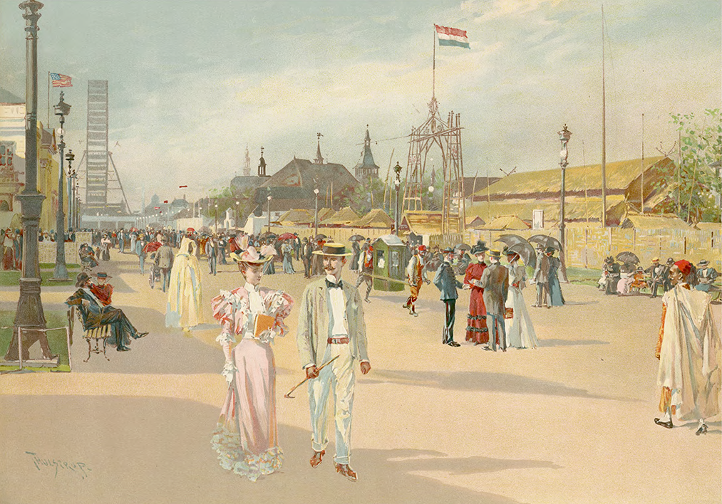 Print of a watercolor painting from the World's Columbian Exposition, 1893.