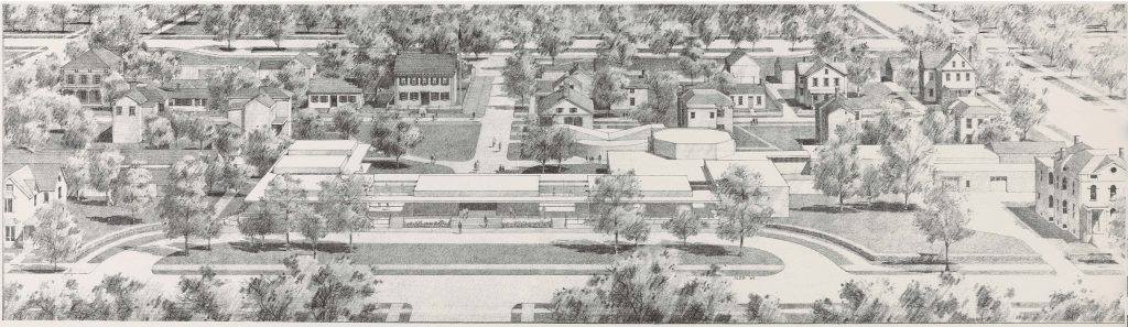 Illustration depicting a concept design for the Lincoln Home Area