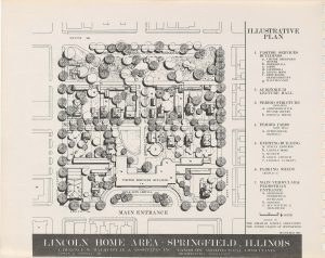 Illustration depicting a plan for the Lincoln Home Area