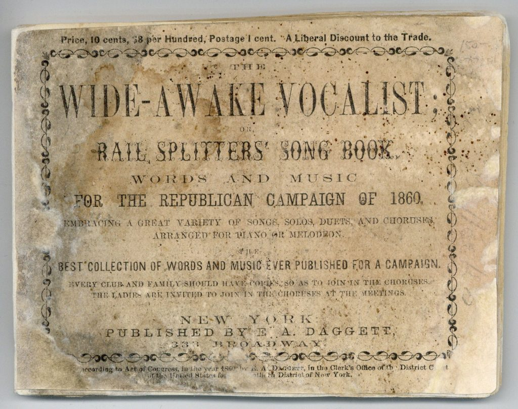 Front cover of Wide-Awake Vocalist music book