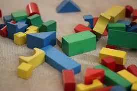 different colored bricks
