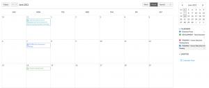 Screenshot of Canvas Calendar