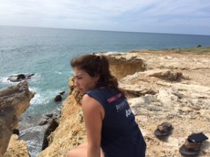 While at Playa Sucia or La Playuela, I along with other students explored around the area and sat along the death defying cliffs.
