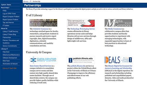 Screenshot of the partnership page