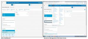 Alma Dashboard and Resource Management Pull-down Menu