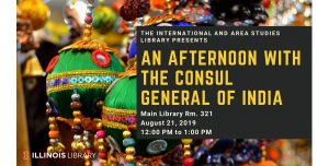 Graphic for Afternoon with the Consul General of India Event