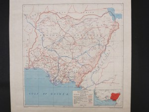 This British map clearly shows the area of the Cameroons (British Trust Territory). Looking at the southern portion, the boundary between the Northern and Southern Cameroons can be seen.