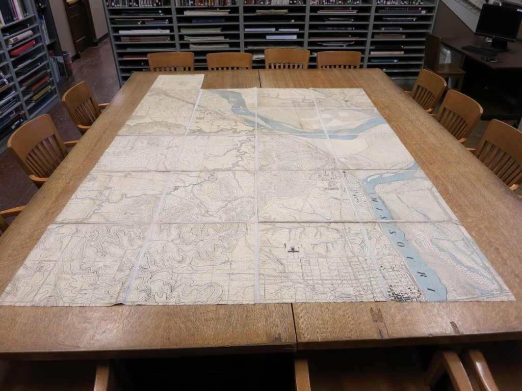"Twenty panels, plus legend panel, of a detailed map of Fort Leavenworth and vicinity intended for ""map maneuvers"" held as part of the coursework at the Army Service Schools. Each panel is approximately 18 x 18 inches."