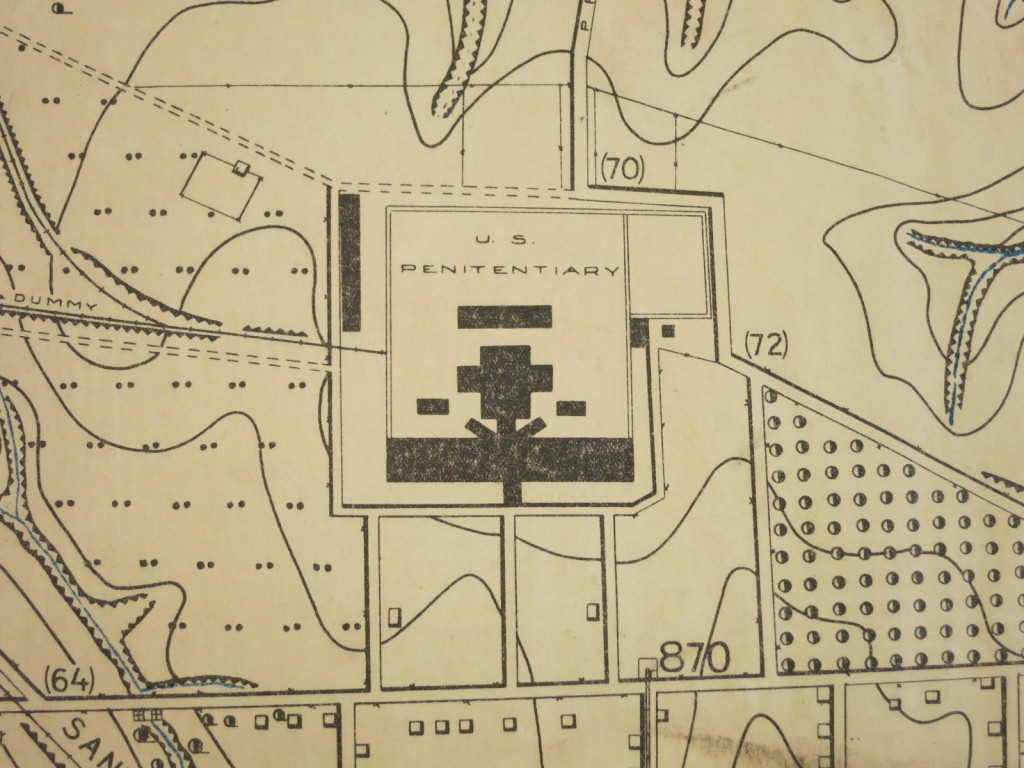 Detail showing the U.S. Penitentiary at Fort Leavenworth.