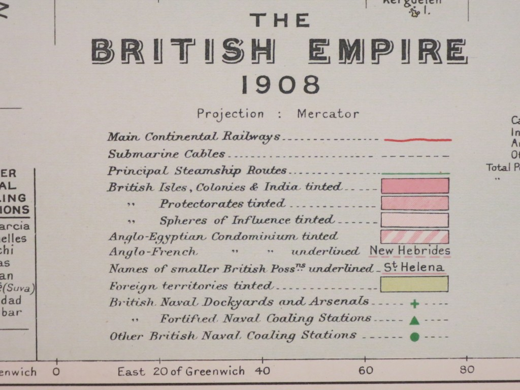 Legend for British Empire 1908