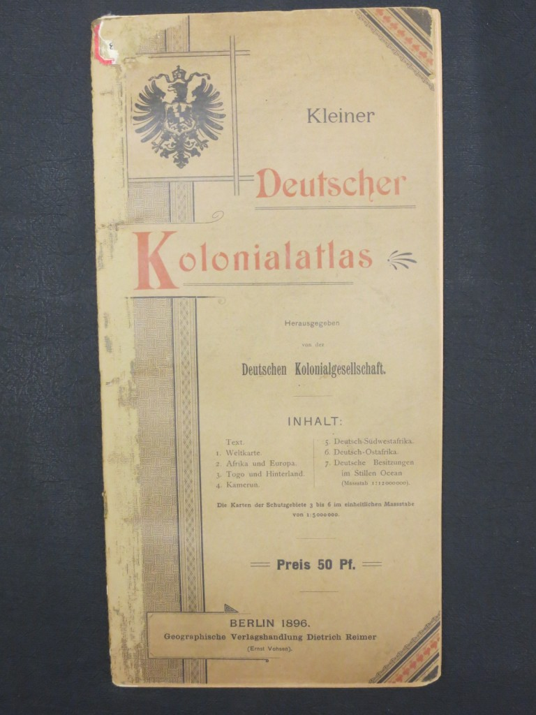 Cover of Kleiner Deutscher Kolonialatlas