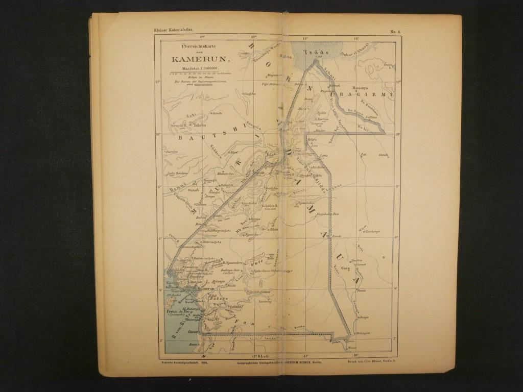 Ubersichtskarte von Kamerun