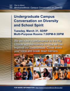 Inclusiveillinois cus conversation on diversity and school spirit