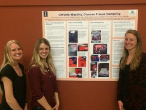 Undergraduates from the Novakofski & Mateus Collaborative Labs present at the annual meeting of the Wildlife Society