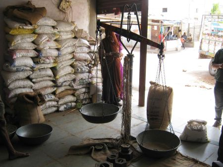 Premises of a local trader who purchases grain from farmers. Credits: ADM Institute/MART.
