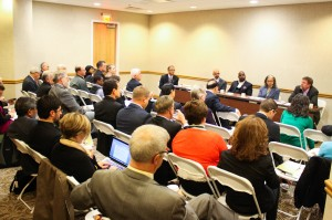 Panelists discuss partnerships & collaboration to full room at Borlaug Dialogue side event. Credit: ADMI/K.Wozniak