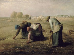 The Gleaner by Jean-Francois Millet documents the traditional involvement of women in in PHL activities. Source: Wikimedia