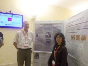 William Lanier and Lola Gaparova during the poster session.