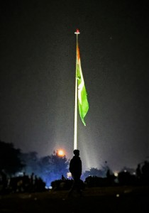 Tiranga, the national flag of India hoisted at Central Park, Connaught Place. Photo credit: ADMI/Thomas Poole