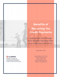 Cover of the report on benefits of recurring tax credit payments.