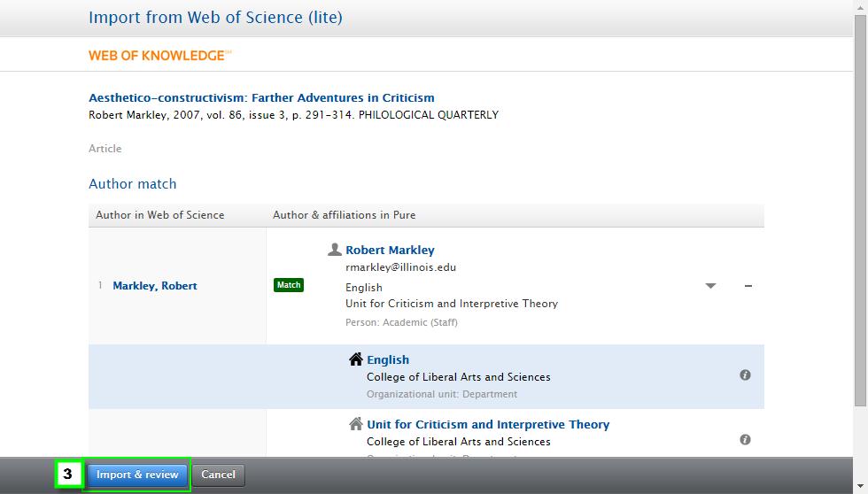 Web of Science import module 4