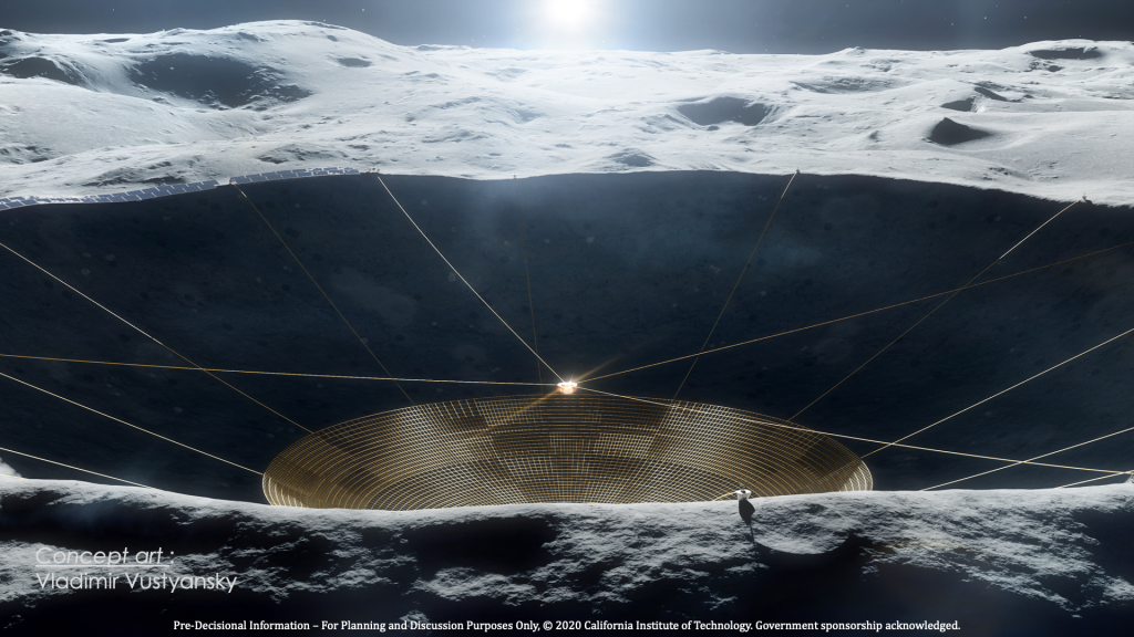 LCRT Concept Art (View near Crater with Sunrise)