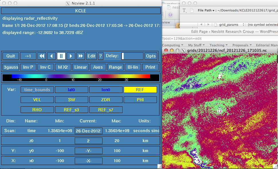Radar data processing with Radx – Cloud Systems Research Group