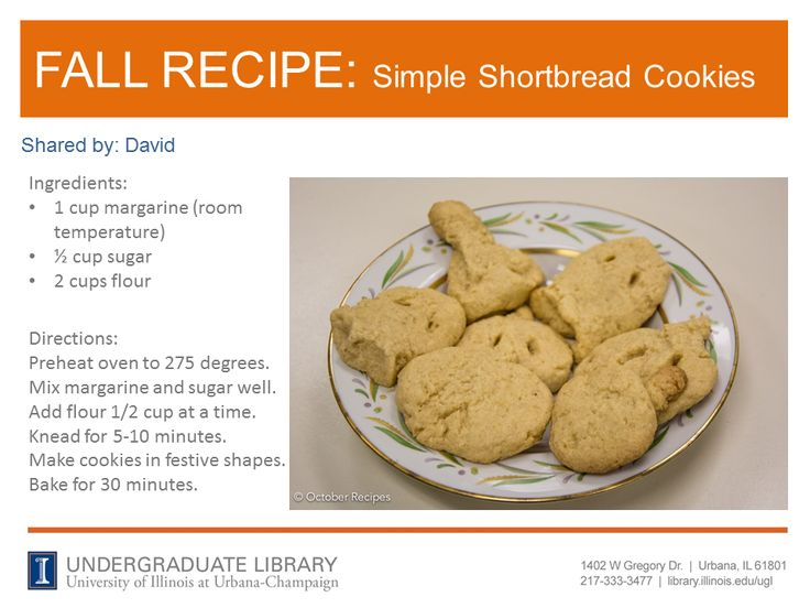 Shortbread Cookies from David