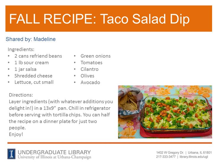 Taco Salad Dip from Madeline