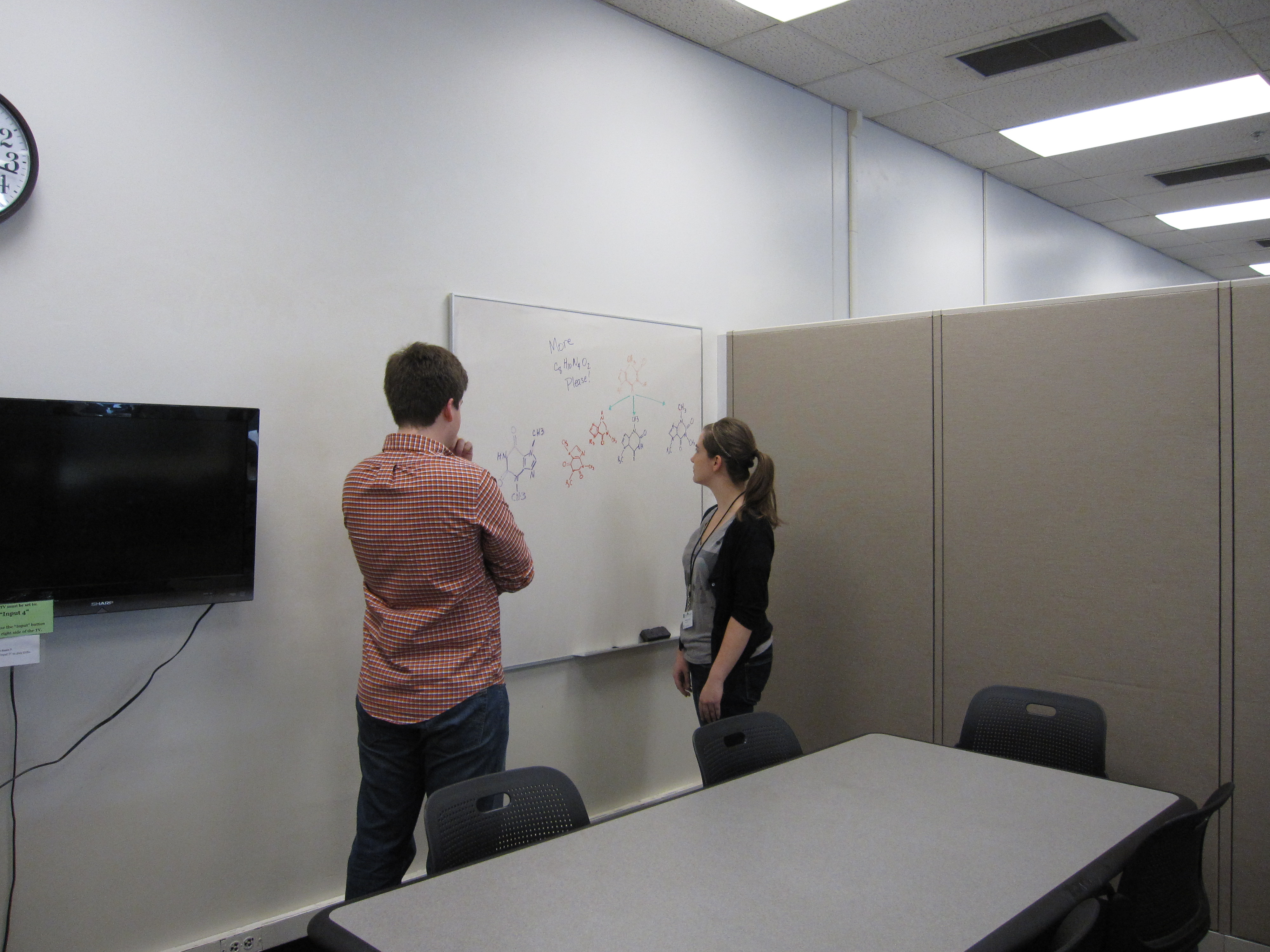 Students working in a group room. Photo courtesy of the Undergraduate  Library.