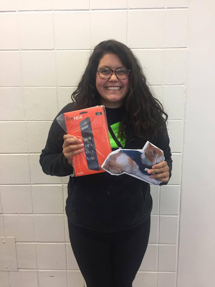 Ana Michaela, the winner of our Kindle Fire Grand Prize raffle