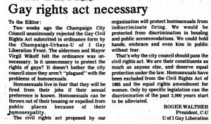 Daily illini article: gay rights act necessary