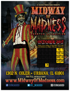 Midway of Madness haunted house poster
