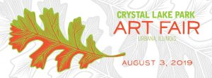 Crystal Lake Park Art Fair. August 3, 2019
