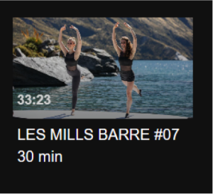 Video still from LES MILLS BARRE #07 30 min